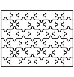 puzzle 6 vector image vector image