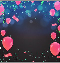 abstract colorful confetti celebration carnival vector image