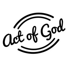 Act of god black stamp vector