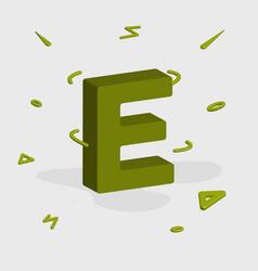 Alphabet 3d logo - letter e vector