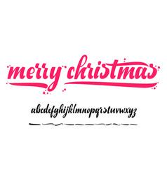 alphabet - merry christmas xmas badge vector image