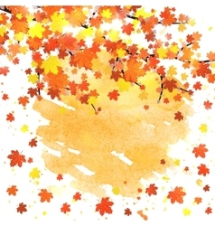 Autumn banner template with blank space vector image
