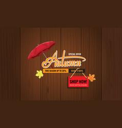 Autumn sale background layout autun sale vector