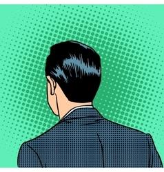 Back head businessman vector