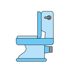 bathroom toilet isolated vector image