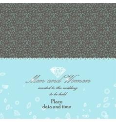 Beautiful diamonds invitation card vector