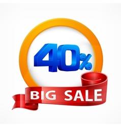Big sale inscription label vector image