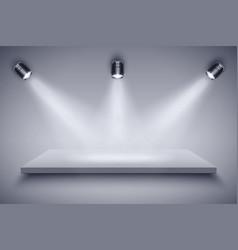 black and white presentation platform vector image