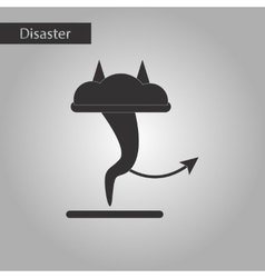 Black and white style icon tornado devil vector