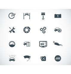 black car service set vector image