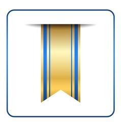 Blue bookmark banner gold vector image