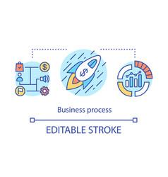 Business process concept icon model idea vector