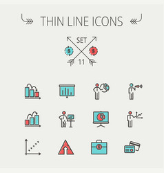 business thin line icon vector image