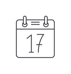 calendar date line icon concept calendar date vector image