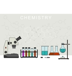 Chemistry banner vector image