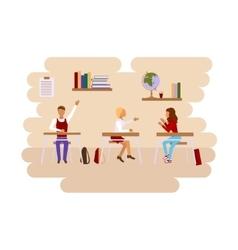 Concept of school class room vector