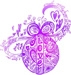 Decorated Love Easter egg vector image