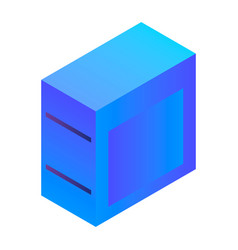 desktop pc icon isometric style vector image