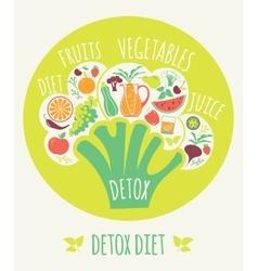 Detox diet vector