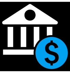 Dollar Bank Flat Icon vector image