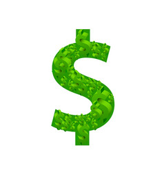 dollar many sign on the white background vector image