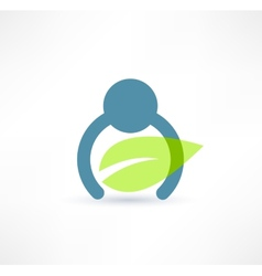 Eco man icon Logo design vector