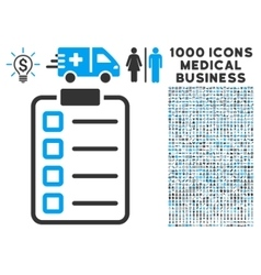 Examination Icon with 1000 Medical Business vector image
