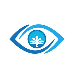 eye water abstract logo icon concept vector image