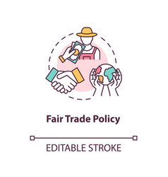 Fair trade policy concept icon vector