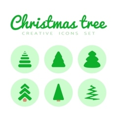 fir-tree icons set vector image