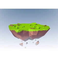 Flying Island Polygonal vector