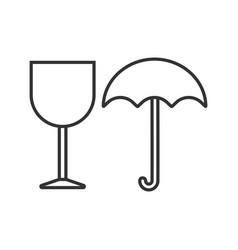 fragile linear icon vector image