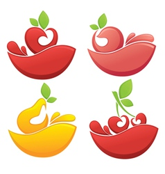 fruits and juice vector image