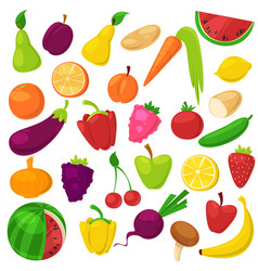 fruits vegetables healthy nutrition of vector image