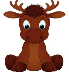 Funny moose vector