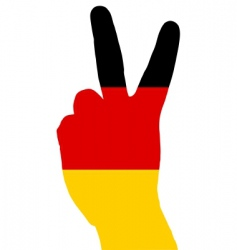 German hand signal vector image