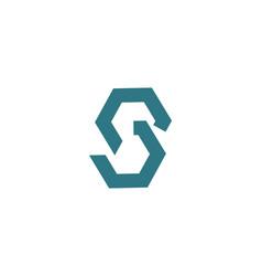 green letter s modern logo design inspiration vector image