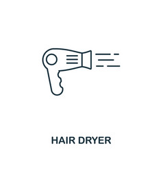 Hair dryer icon thin style design from household vector