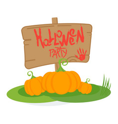 halloween party day poster vector image