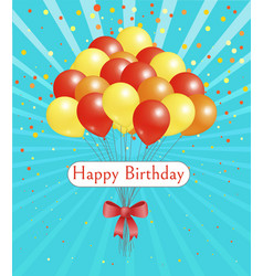 happy birthday holiday celebration balloon card vector image