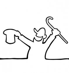 happy person drawing vector image vector image