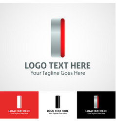 Hi-tech trendy initial icon logo i vector