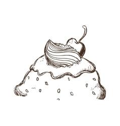 Ice cream sketch icon Dessert and sweet design vector image