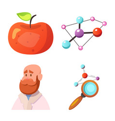isolated object of genetic and plant symbol set vector image
