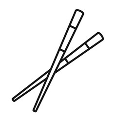Japan chopsticks icon outline style vector