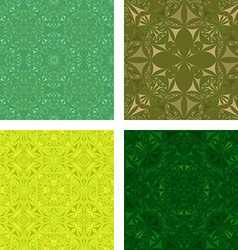Kaleidoscope Inspired Floral Background Set vector