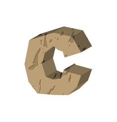 Letter c stone font rock alphabet symbol stones vector