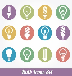 Light bulbs bulb icon set vector