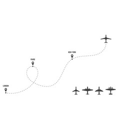 line route and planes vector image