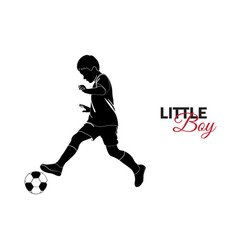 little child baby little boy playing soccer vector image